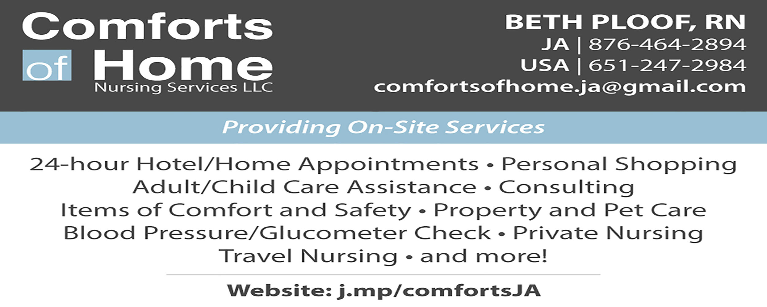 Comforts Of Home Nursing Services - West End Road - Negril Jamaica